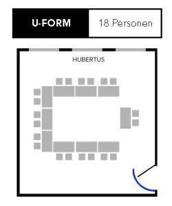 U-Form Sitzplan