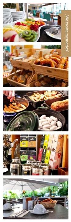 Bilder Collage Frühstück
